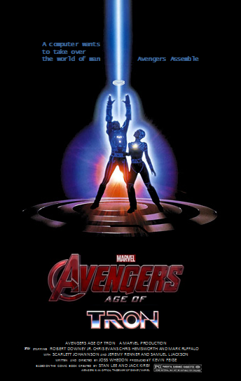 Avengers age of Tron poster