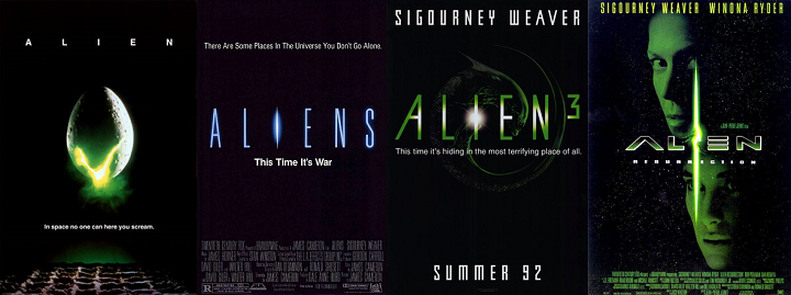 Alien movie franchise posters